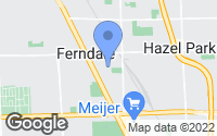 Map of Ferndale, MI