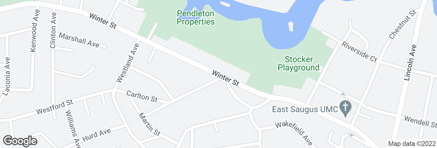 Map of 60 Winter St and surrounding area