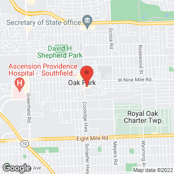 Map of Citi Trends at 22106 Coolidge Highway, Oak Park, MI 48237