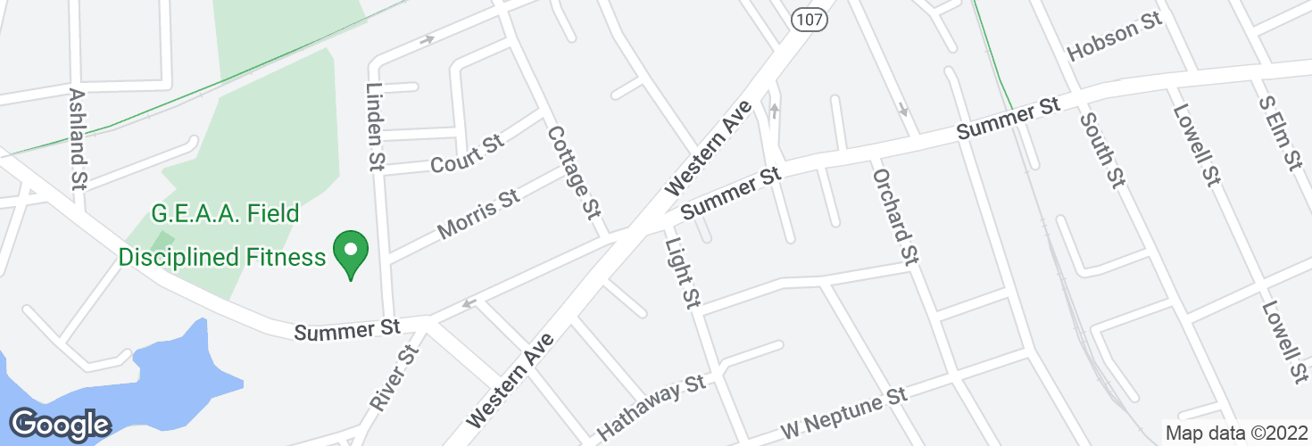 Map of Western Ave @ Summer St and surrounding area