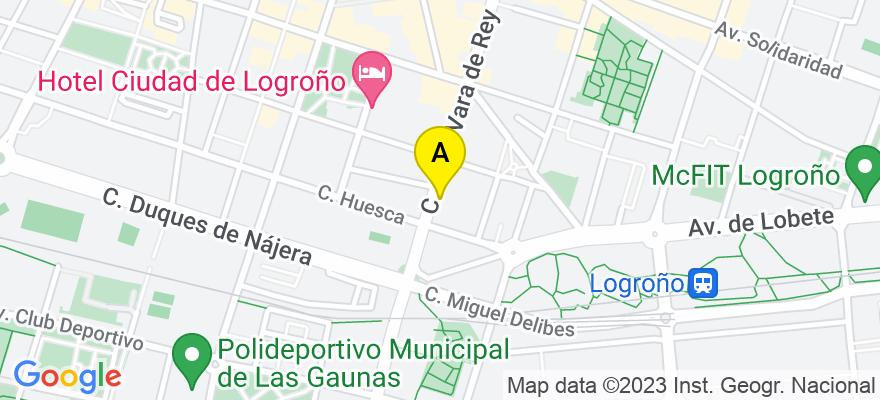 situacion en el mapa de . Direccion: C/ Vara de Rey, 63, 6º C, 26002 Logroño. La Rioja