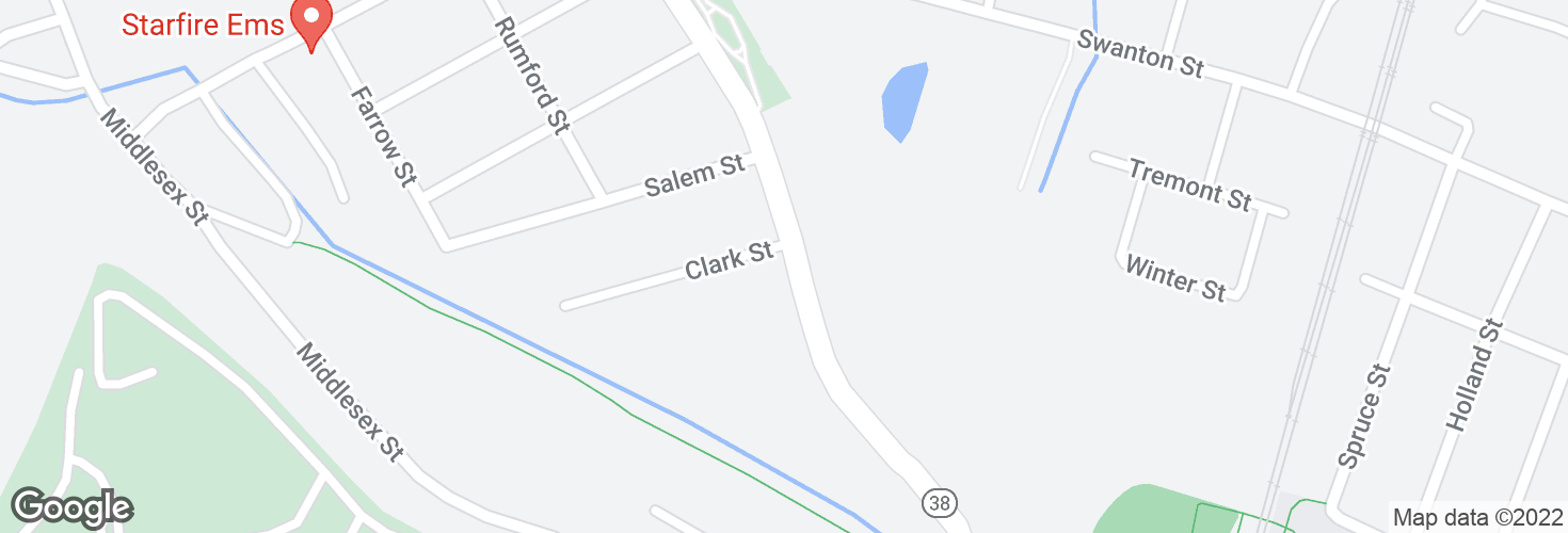 Map of Main St @ Clark St and surrounding area