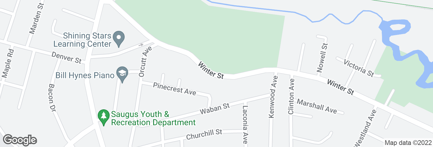 Map of Opp 153 Winter St and surrounding area