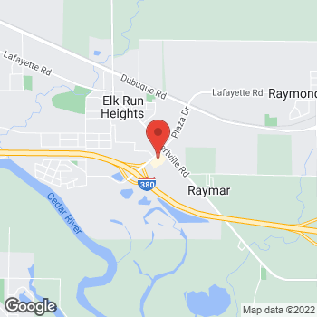 Map of Arby's at 400 Evansdale Dr, Evansdale, IA 50707
