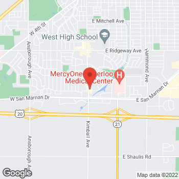 Map of Arby's at 3657 Kimball Ave, Waterloo, IA 50702