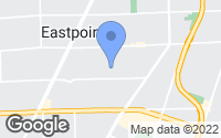 Map of Eastpointe, MI