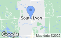 Map of South Lyon, MI