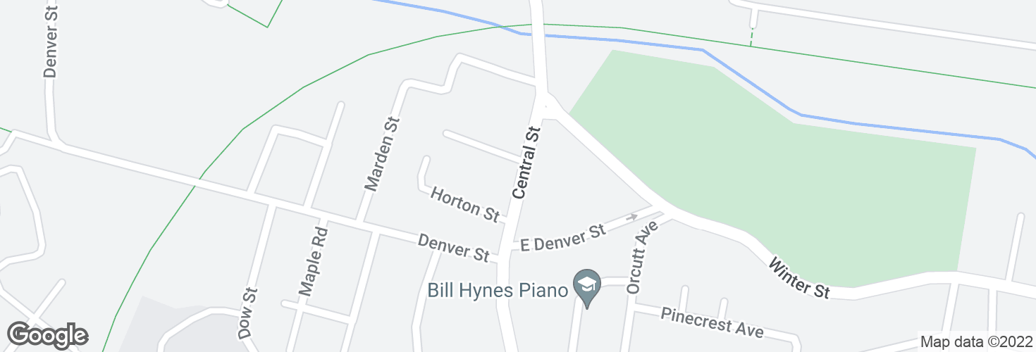 Map of Central St @ Vermont Ave and surrounding area