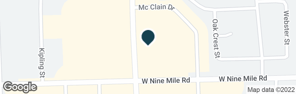 Google Map of13550 W 9 MILE RD
