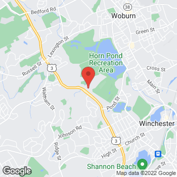 Map of Hair Cuttery at 352 Cambridge Road, Woburn, MA 01801
