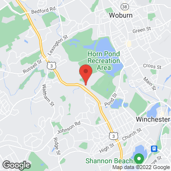 Map of Rite Aid at 350 Cambridge Street, Woburn, MA 01801