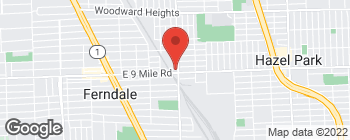 Map of 751 E 9 Mile Rd in Ferndale