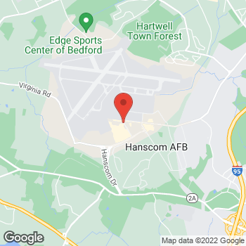 Map of Charles Rollinger, MD at 1609 Eglin Streethanscom Air Force Base, Bedford, MA 01731