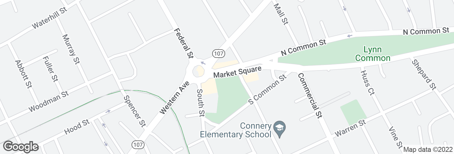 Map of Market Square @ Western Ave and surrounding area
