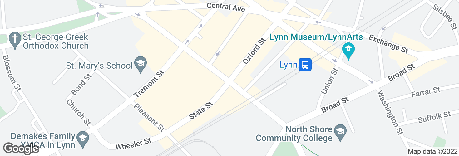 Map of Oxford St @ Market St and surrounding area