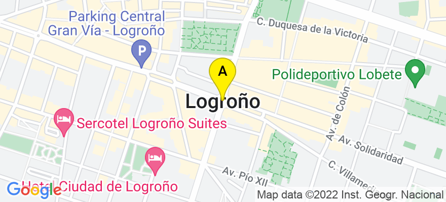 situacion en el mapa de . Direccion: Avda. Gran Vía 65, Entr. Dcha., 26005 Logroño. La Rioja