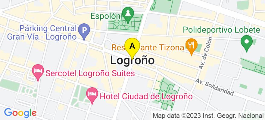 situacion en el mapa de . Direccion: Muro de la Mata 6, 3ero Izquierda, 260001 Logroño. La Rioja