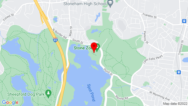 Google Map of 149 Pond Street, Stoneham, MA 02180