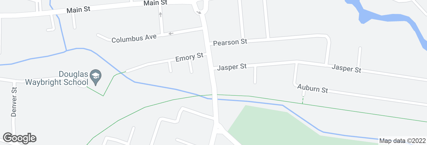 Map of Central St @ Jasper St and surrounding area