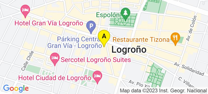 situacion en el mapa de . Direccion: San Anton 4, 26002 Logroño. La Rioja