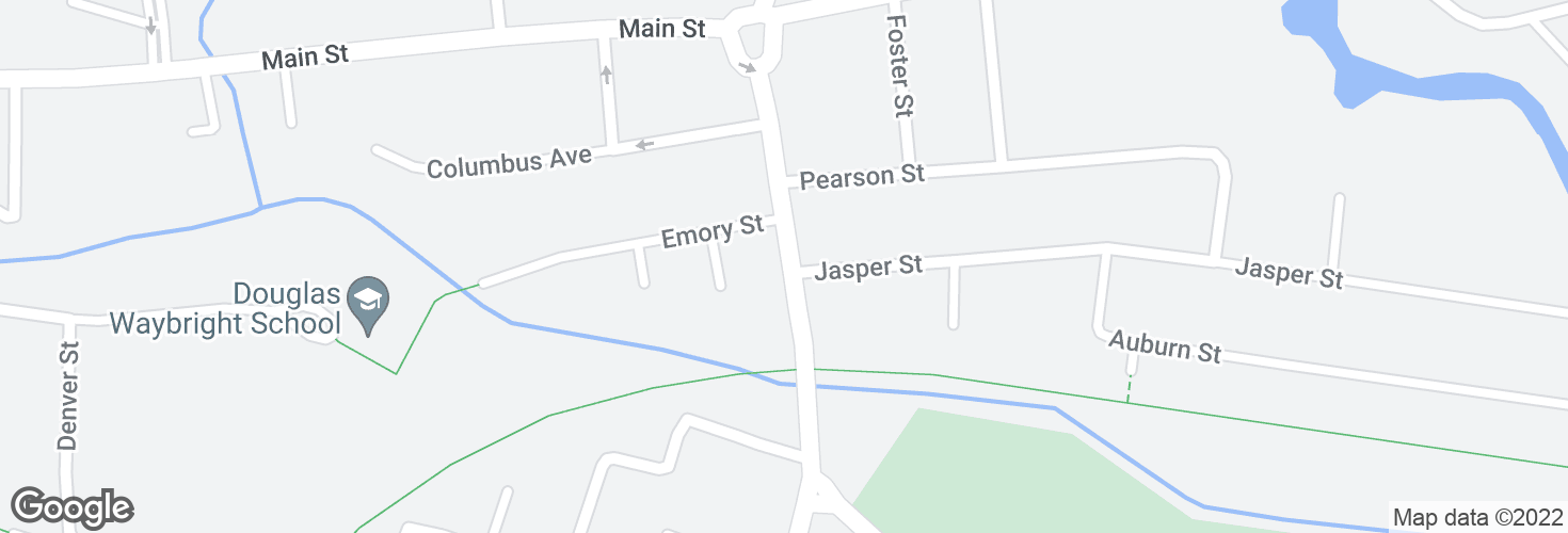 Map of 329 Central St opp Jasper St and surrounding area