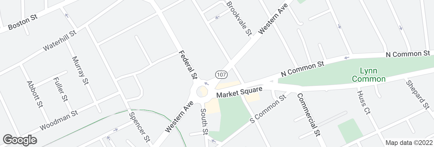 Map of Western Ave @ Market Square and surrounding area