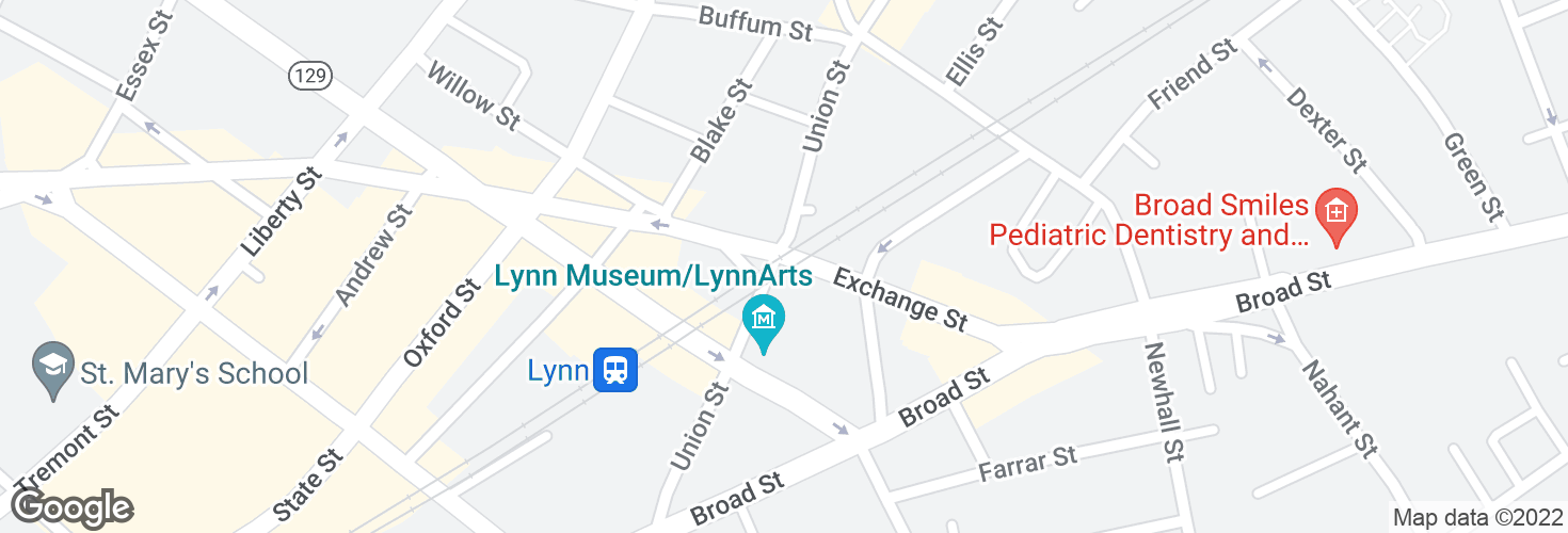 Map of Union St @ Exchange St and surrounding area