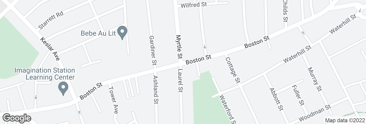 Map of Boston St @ Myrtle St and surrounding area