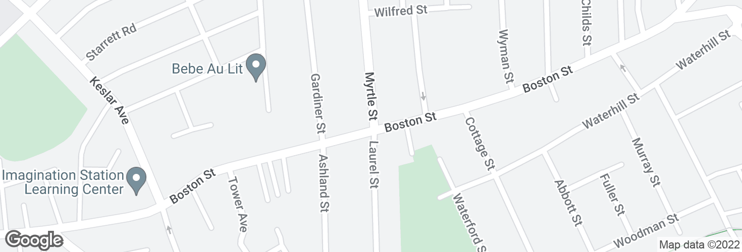 Map of Myrtle St @ Boston St and surrounding area