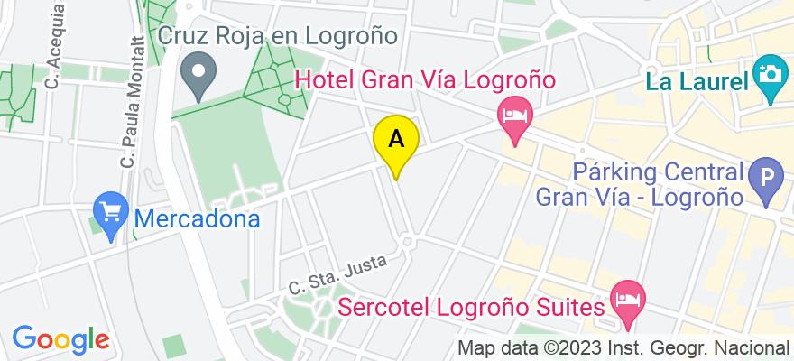 situacion en el mapa de . Direccion: Calle Navarrete el Mudo, núm.1 piso 1ºB, 26005 Logroño. La Rioja