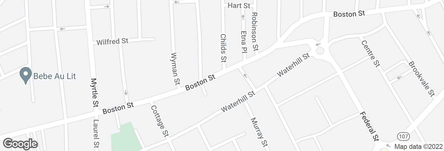Map of Boston St opp Childs St and surrounding area