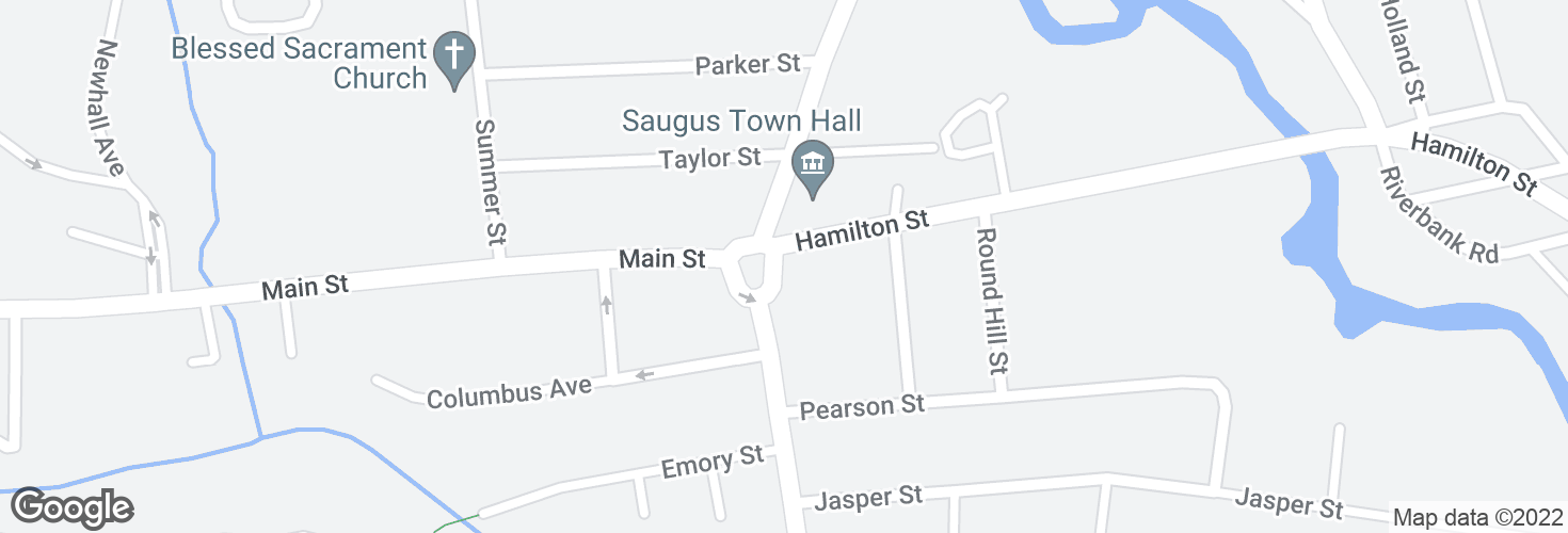 Map of Central St @ Hamilton St and surrounding area