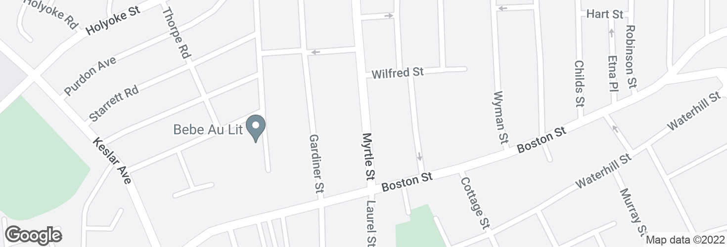 Map of 28 Myrtle St and surrounding area