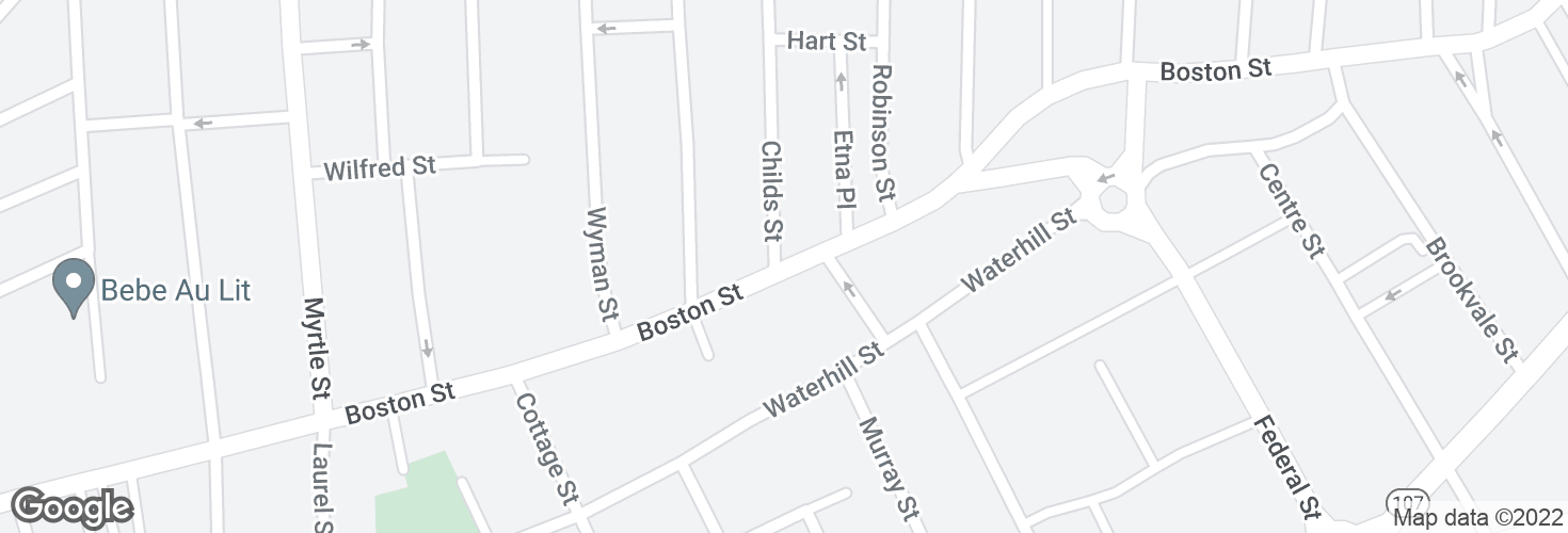 Map of Boston St @ Childs St and surrounding area