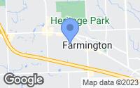 Map of Farmington, MI