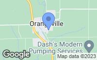 Map of Orangeville, IL