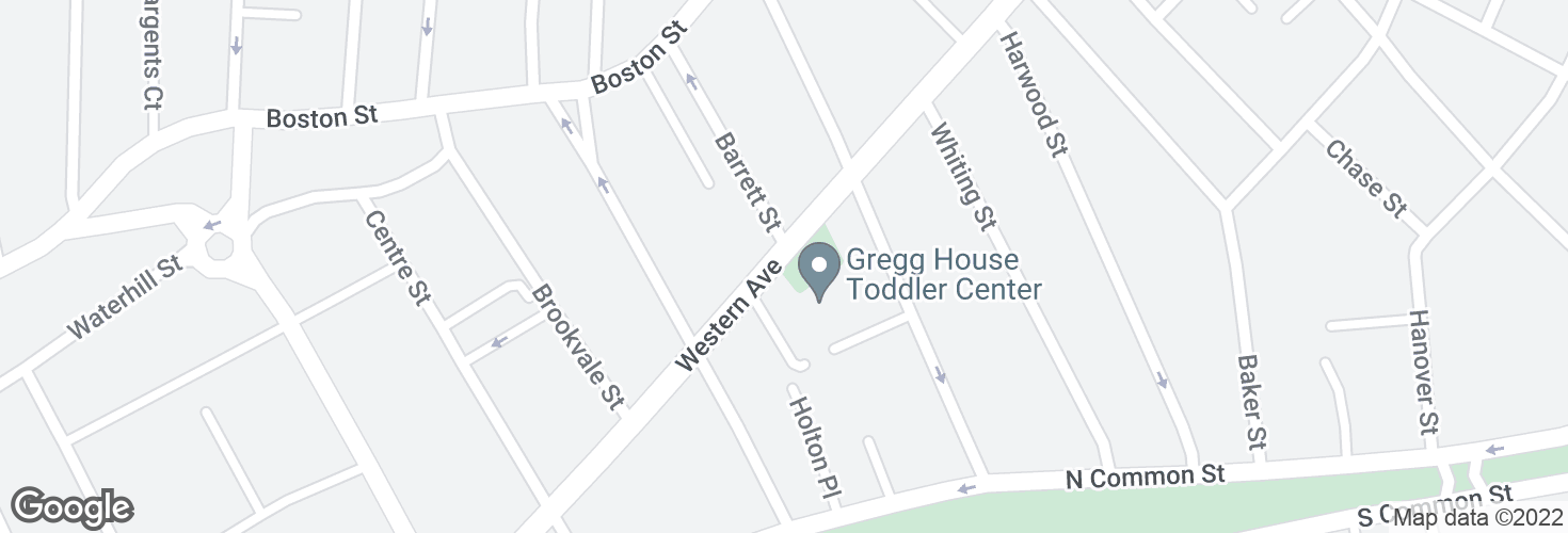 Map of Western Ave opp Barrett St and surrounding area