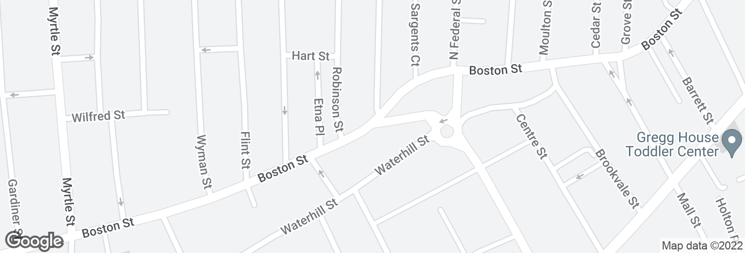 Map of Boston St opp Kirtland St and surrounding area