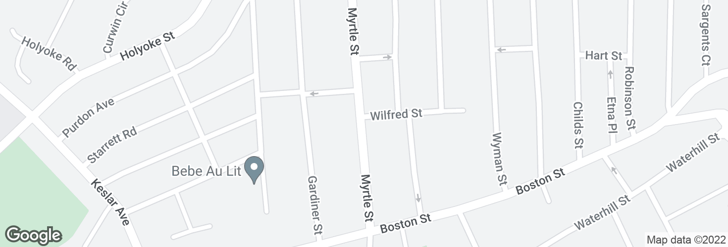 Map of Myrtle St @ Wilfred St and surrounding area