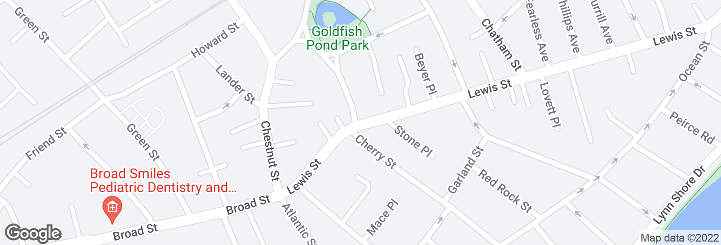 Map of Lewis St @ Lafayette Park and surrounding area