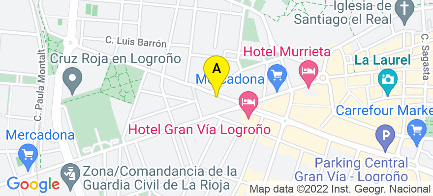 situacion en el mapa de . Direccion: Gonzalo de Berceo, 3 4º C, 26005 Logroño. La Rioja