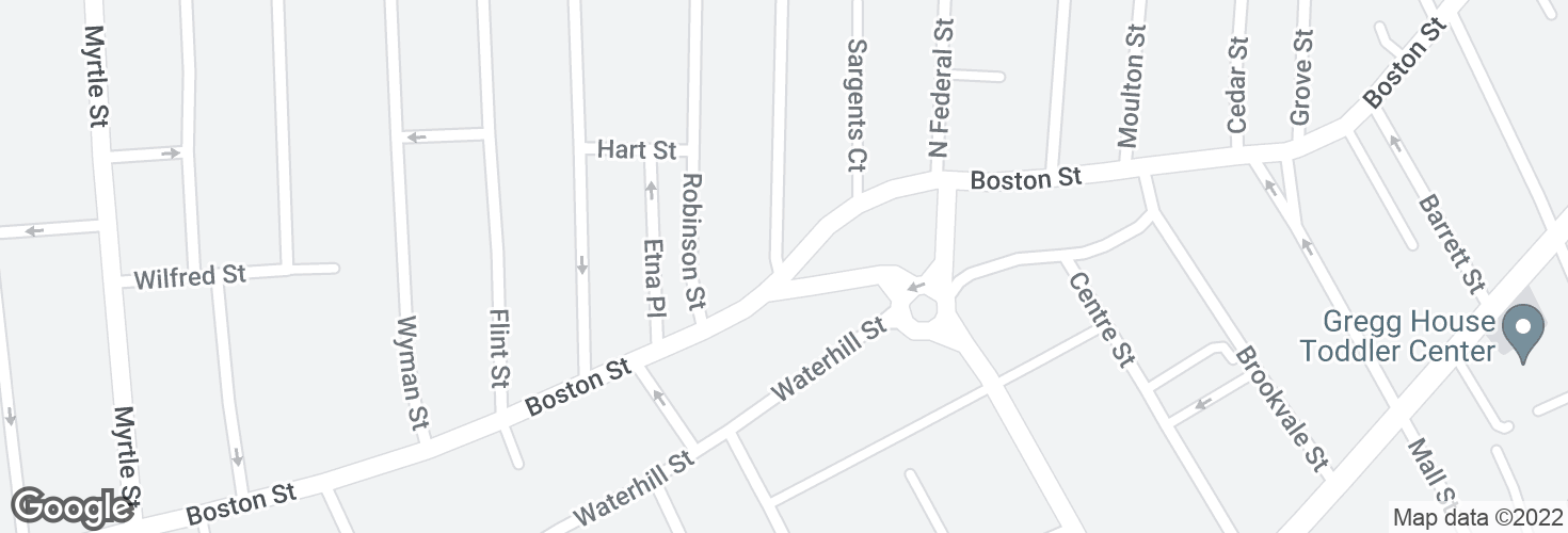 Map of Boston St @ Kirtland St and surrounding area