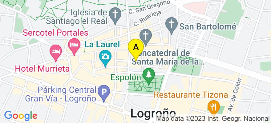 situacion en el mapa de . Direccion: Hermanos Moroy N.º 8 - 3.º - E, 26001 Logroño. La Rioja