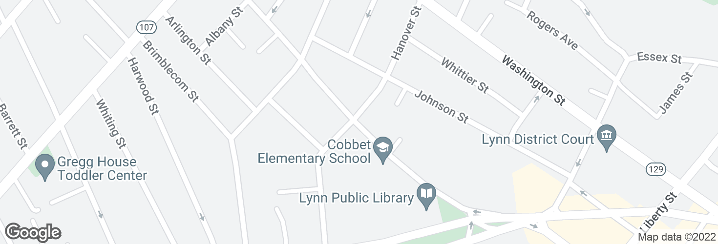 Map of Franklin St @ Hanover St and surrounding area