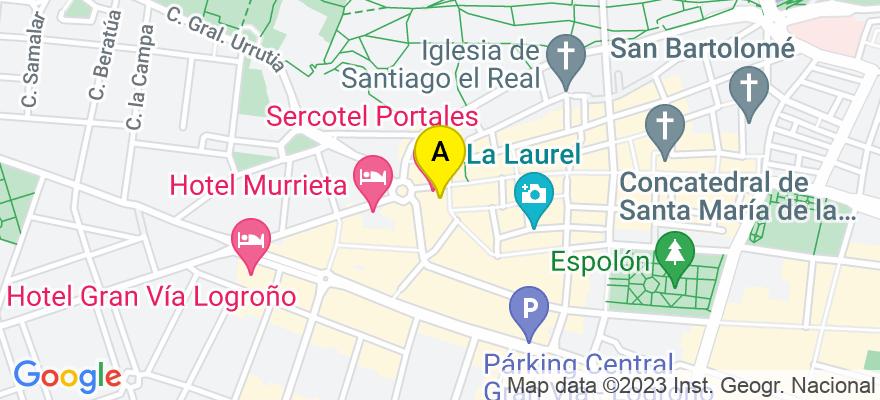 situacion en el mapa de . Direccion: calle Once de Junio nº 7-6º b, 26001 Logroño. La Rioja