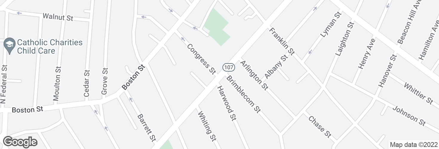 Map of Western Ave @ Congress St and surrounding area