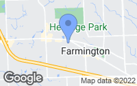Map of Farmington, MI