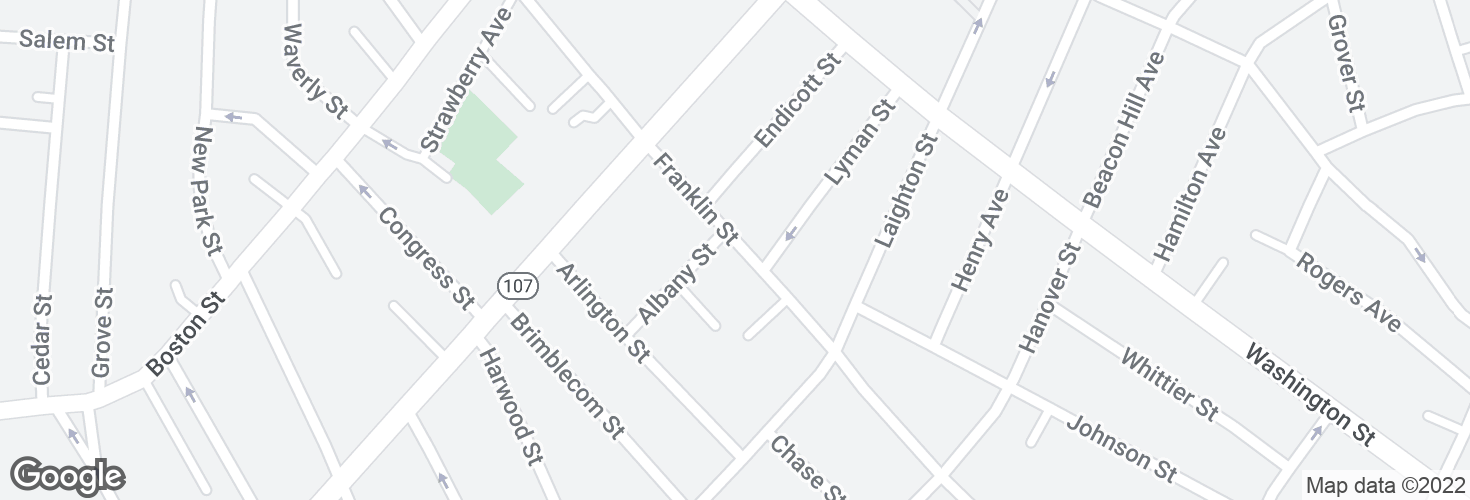 Map of Franklin St @ Albany St and surrounding area