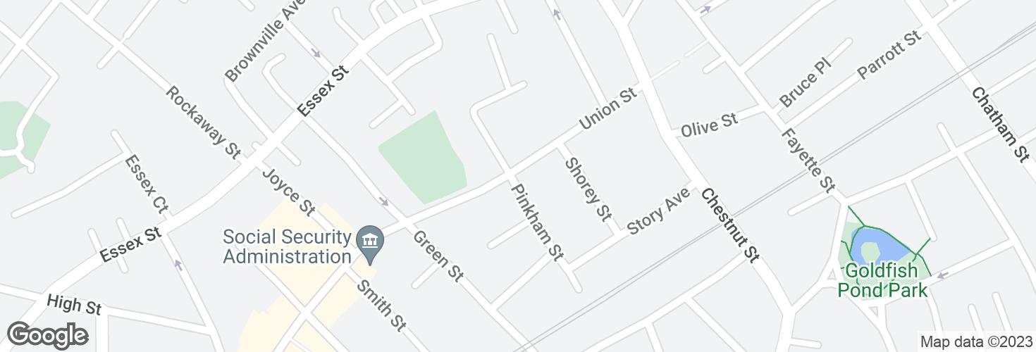 Map of Union St @ Pinkham St and surrounding area