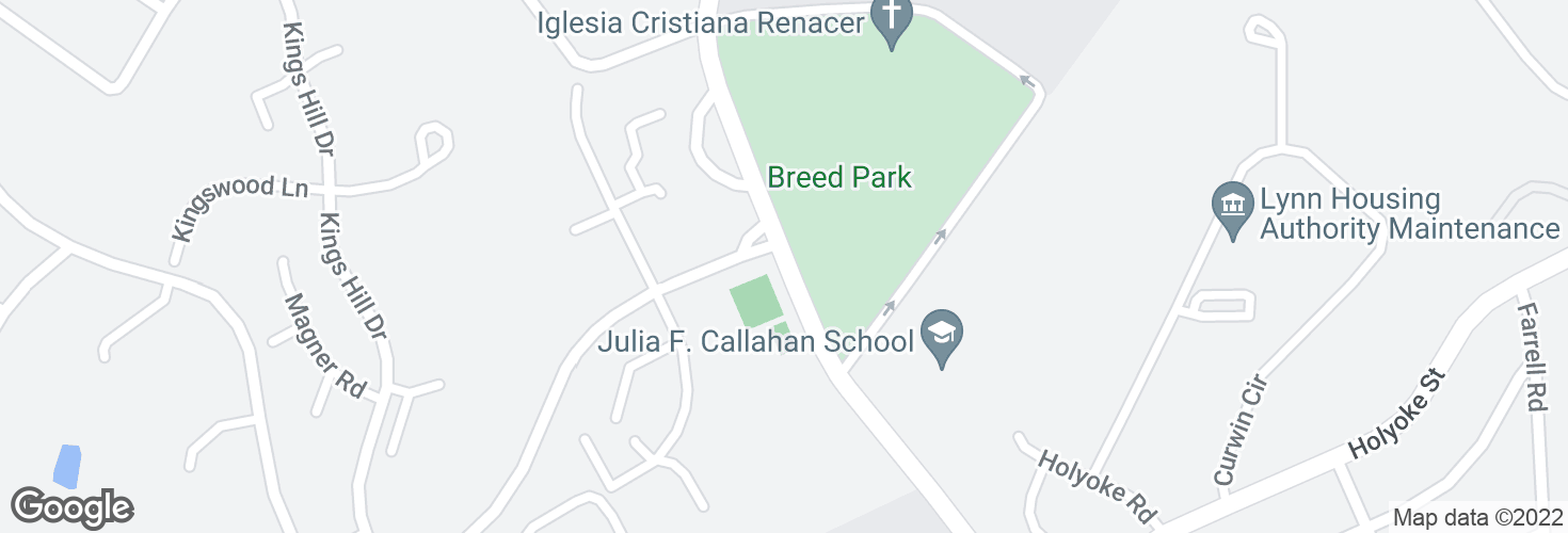 Map of O'Callaghan Way @ Kings Hill Dr and surrounding area